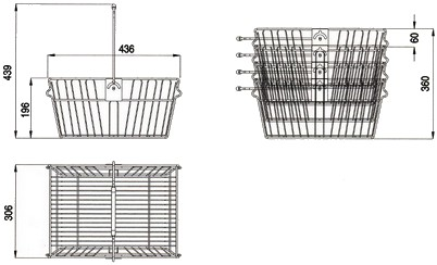 cestini spesa cesto cestelli supermercato minimarket ferro