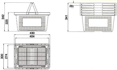 cesto cestino cestello cesta cestone spesa plastica supermercato