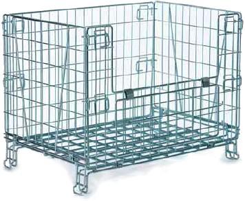 Contenitori In Ferro Per Magazzino.Cestone Contenitori Sovrapponibile Container Filo Ferro