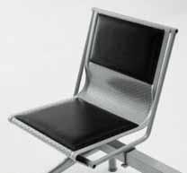 sedute sala d'attesa con cuscini imbottite