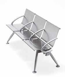 bracciolo chiuso sedute per sale d'attesa sedie