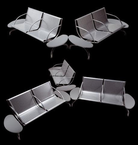 Sedute sala attesa su trave prima classe seduta acciaio for Sedute per ufficio prezzi