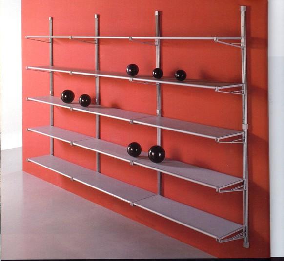 Libreria componibile socrate mobiletti piani vetro for Libreria acciaio e vetro