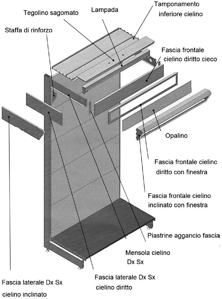 Scaffalature Metalliche Misure Standard.Al Ticino Pavia Scaffalature In Metallo Con Piani A Sbalzo Per