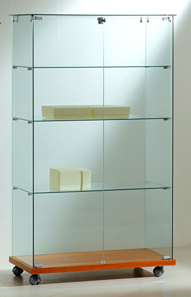 vetrine alte vetrinette cristallo temperato con ruote