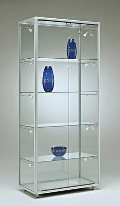 Prezzi vetrine telaio alluminio alfa top vetro for Ikea vetrine in vetro