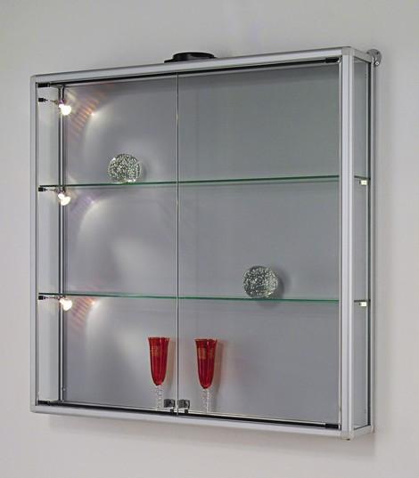Bacheca e teca box parete telaio alluminio anodizzato for Ikea vetrine in vetro