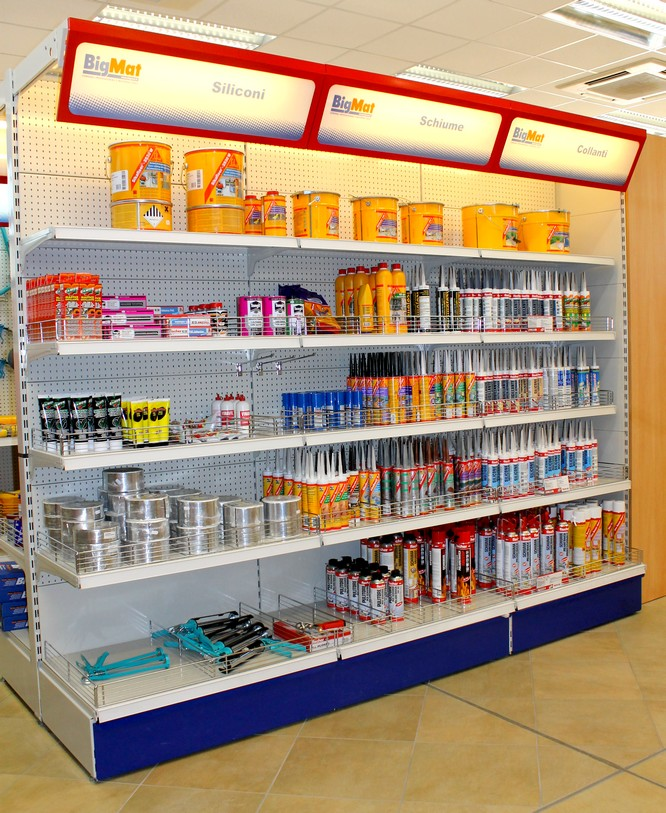 Progettazione spazi arredo negozio scaffalature ferramenta for Arredamento ferramenta