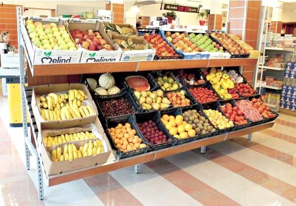 Ceste per frutta e verdura pannelli decorativi plexiglass for Arredamento ortofrutta in legno