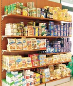 Arredamento negozi panetteria scaffalatura cesti pane madie for Arredamento salumeria