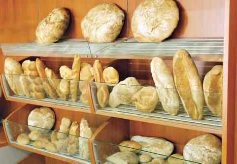 Scaffalatura alimentare arredo salumeria panetteria verdura