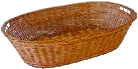 cesti vimini ovali manici maniglie cestino bombato e fodera