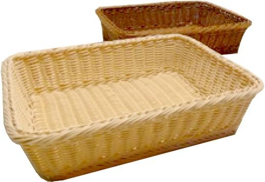 cesti plastica rettangolare imitazione vimini naturale pane
