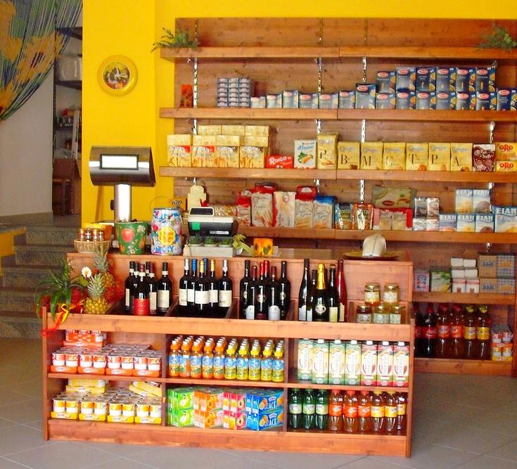 Negozi frutta verdura piani cassette legno abete naturale for Arredamento frutta e verdura