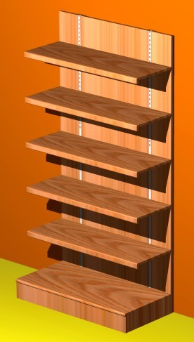 Casa moderna roma italy scaffalature legno for Scaffalature ikea
