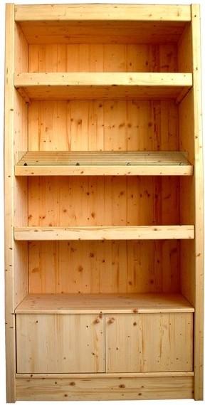 Arredamento negozi prezzi scaffale panetteria spalle legno for Arredamento per salumeria