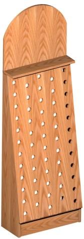 Listino prezzi componenti scaffali con piano porta mensole for Porta vino in legno
