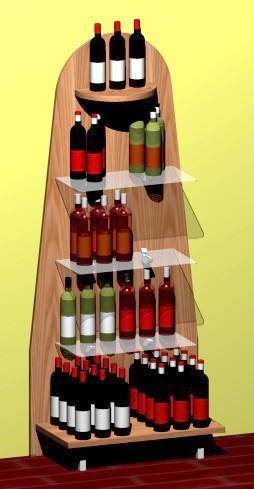 scaffale rustica enoteca espositore vini legno abete