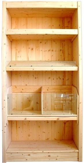 Arredamento negozi prezzi scaffale panetteria spalle legno for Scaffali legno arredamento