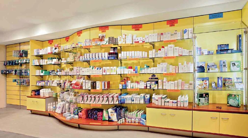 Parafarmacia arredo negozi scaffalature celiachia farmacie for Arredo farmacia usato