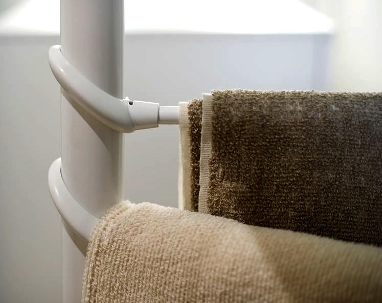 Aggancio montante telescopico porta salviette estetista - Altezza porta asciugamani ...