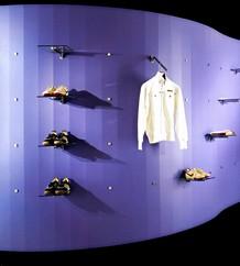 Arredamento negozi fissaggio barre bottone accessori inox for Arredi per negozi abbigliamento