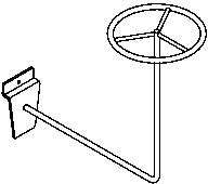 Accmet accessori espositore ripiano barra appenderia gancio for Porta cappelli