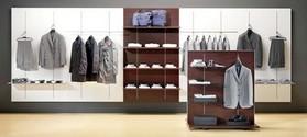 Arredo negozi abbigliamento scaffalatura bottone strutture for Arredi per negozi abbigliamento