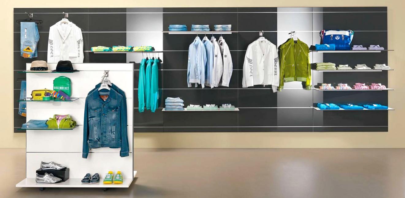 Arredamento abbigliamento uomo donna pannelli rovere micro for Piani di costruzione del negozio con alloggi