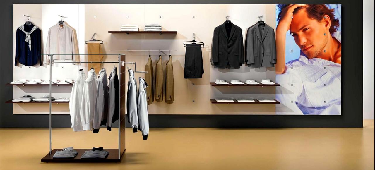 Stender di lusso per negozio abbigliamento ispirazione for Arredamento casa uomo single