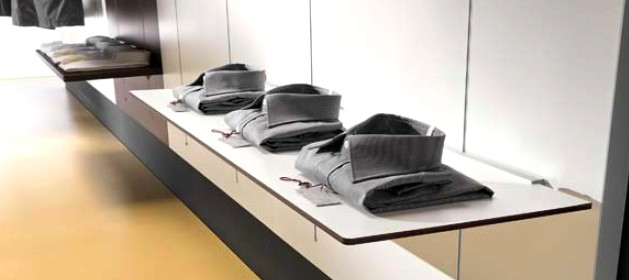 Porta Mensole A Cremagliera.Arredamento Abbigliamento Uomo Donna Pannelli Rovere Micro