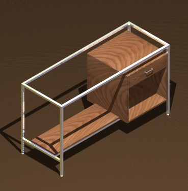 banchi vendita struttura metallo piano nobilitato vetro