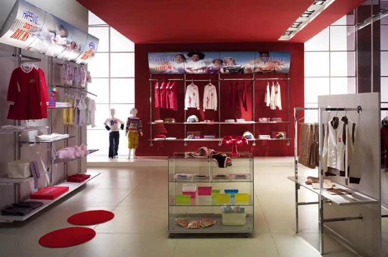 Arredamento negozi abbigliamento appenderia cromato regina for Arredamento negozi
