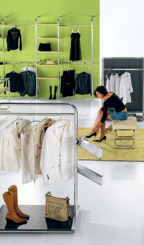 Arredo tubo rotondo prezzi negozi abbigliamento cromo stondo for Arredamento per negozi abbigliamento