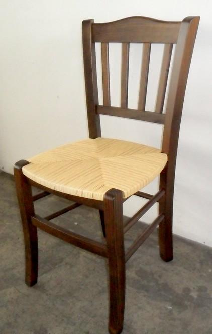 Sedia legno classica sedile paglia cucina ristoranti pub for Sedie da cucina in legno e paglia