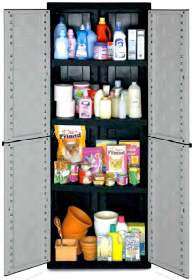Armadietti plastica spogliatoio pulizia detersivi portascope - Mobile porta detersivi ...