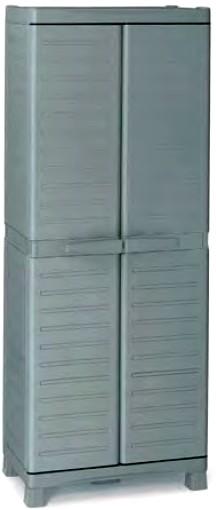 Armadietti plastica spogliatoio pulizia detersivi portascope for Armadio plastica esterno obi