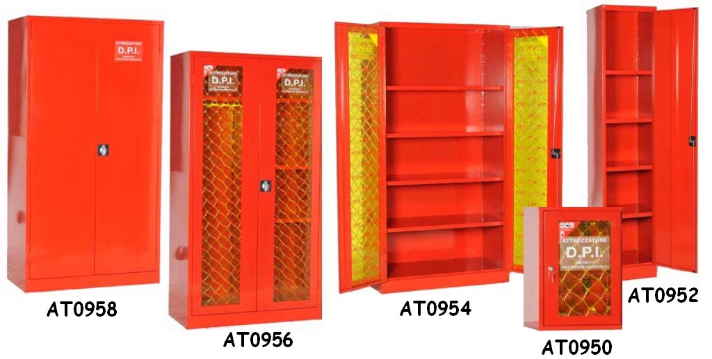 Armadi protezione attrezzature antincendio vigili fuoco for Armadi metallici