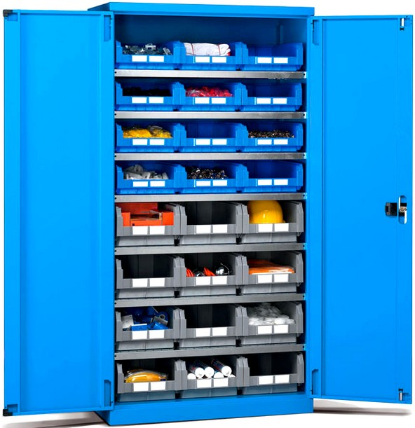 Armadi metallo officine magazzini contenitori plastica for Piani di officina e officina
