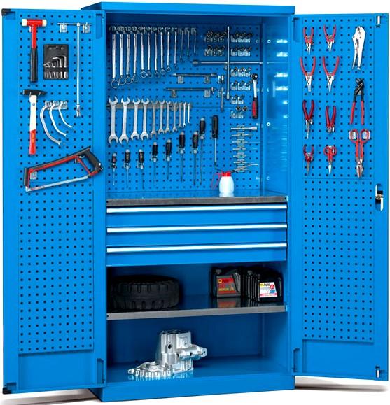 Armadietti porta attrezzi casamia idea di immagine for Armadietti metallo