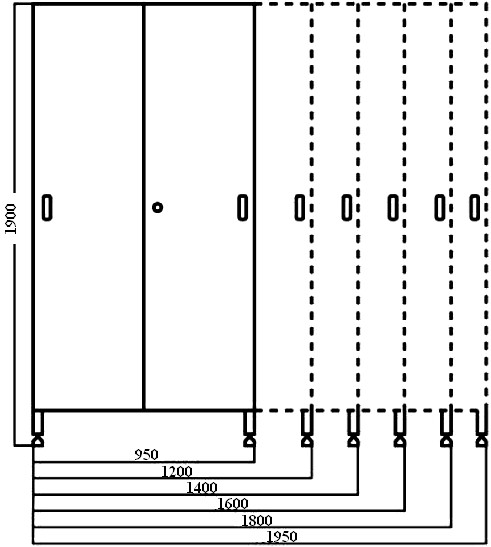 Armadi acciaio inox tetto inclinato ante scorrevoli cucine for Piani di progettazione di armadi mudroom