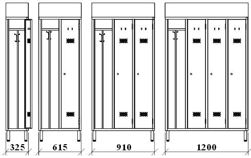 Armadietti per spogliatoio dimensioni idee di immagini for Arredi spogliatoi dwg