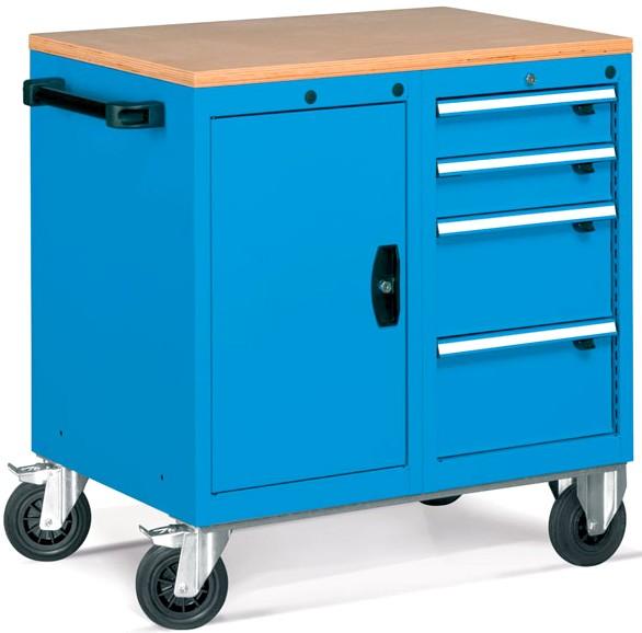 Armadietti composti con ruote per utensileria officine - Mobili con ruote ...