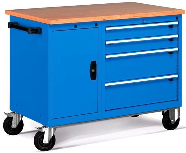 carrello porta attrezzi per officina con piano legno ATFCBH6100104