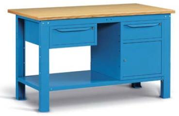 Banco Di Lavoro In Ferro : Banchi lavoro ferro piano legno mobiletti cassetti