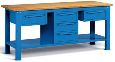 Banco Da Lavoro Per Elettricisti : Banchi lavoro ferro piano legno mobiletti cassetti