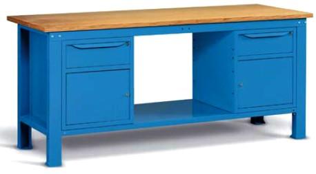 banchi lavoro mobiletti antina cassetti top legno