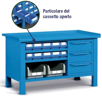 Tavolo Da Lavoro Plastica.Banchi Da Lavoro Mobiletti E Cassetti Porta Minuteria