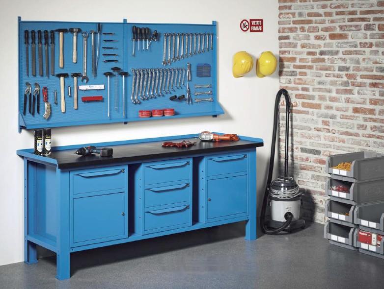 Banco Di Lavoro Meccanico : Banchi lavoro lamiera officina industria piano legno