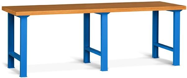 Banchi da lavoro 250x80 cassettiera top legno laminato - Tavolo da lavoro in legno ...